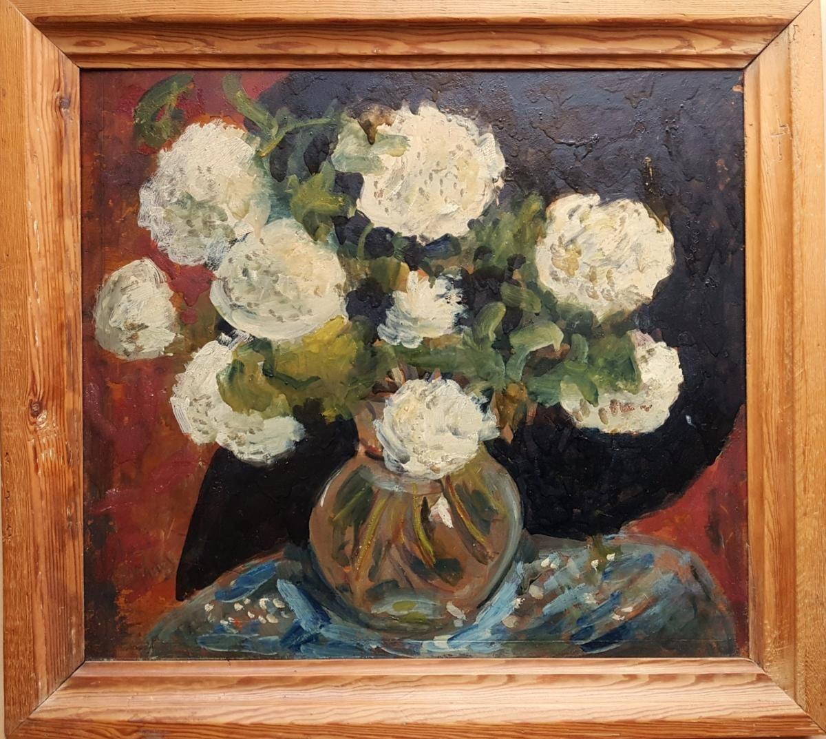 José Mange (18661935) Vase Of Flowers Vase