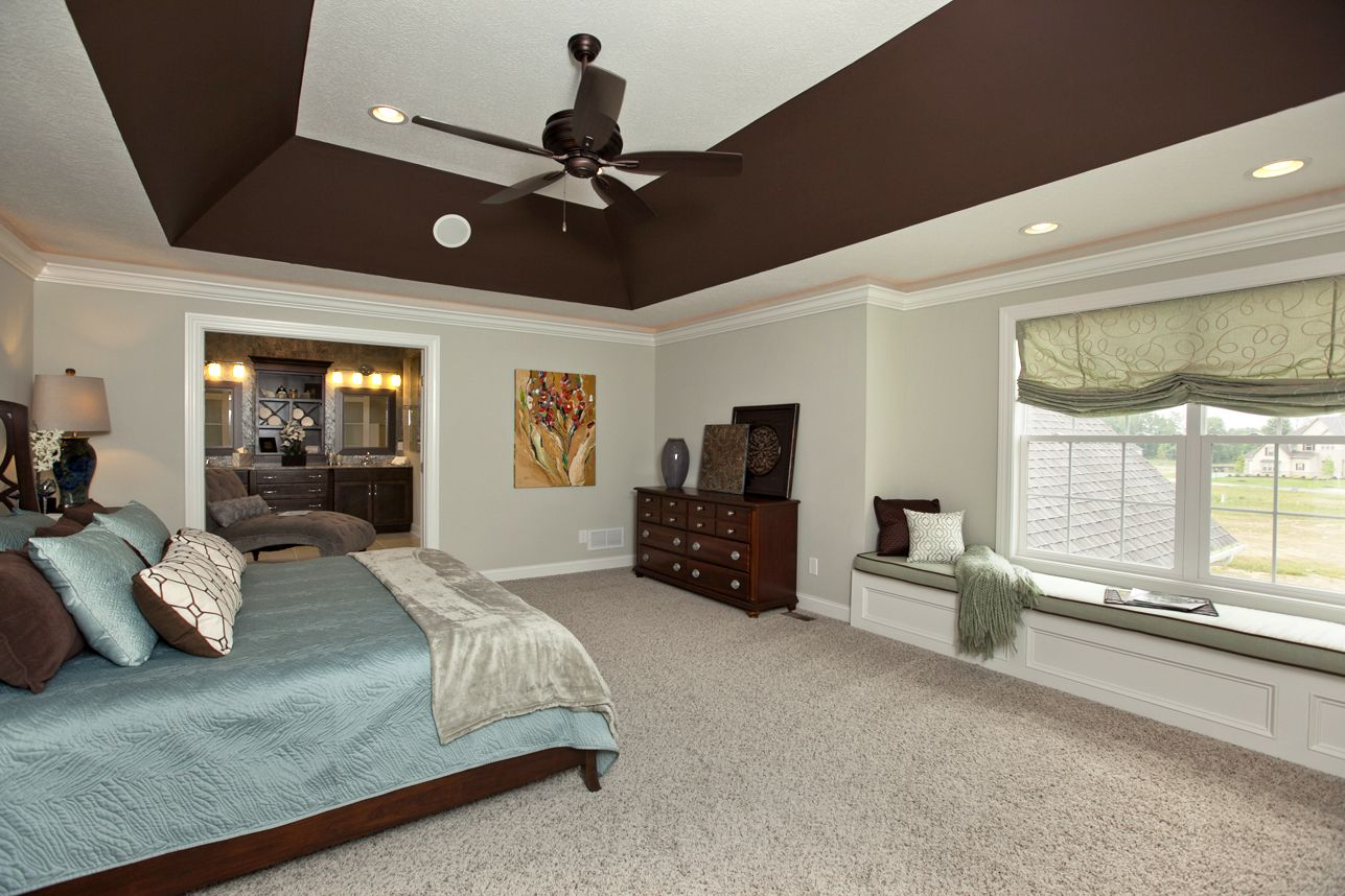 Bedroom ceiling paint ideas - Angled Tray Ceiling Lighting Bedroom Google Search