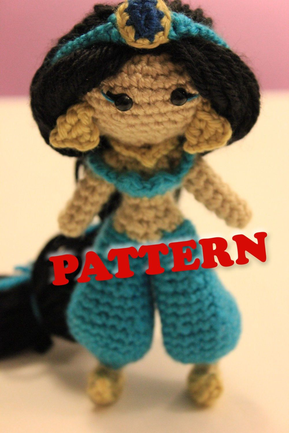 PATTERN Jasmine Disney Princess Crochet Doll Amigurumi ...