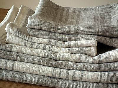 Set of Natural Linen Towels Linum--i'm gonna start buying towels like this instead of the old stand-bys