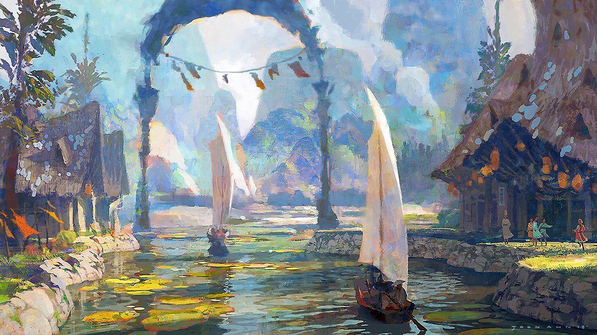 Artstation Com On Fantasy Landscape Environment Concept Art Landscape Art