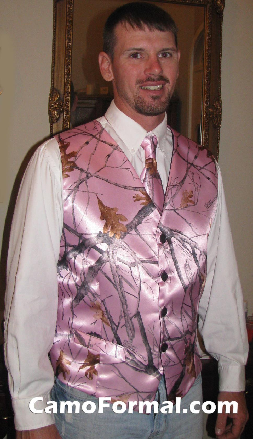 Camo wedding help wedding dresses ideas weddings camo formal mens vest pink snowfall best