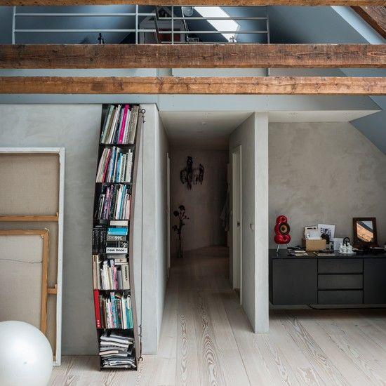 Wohnideen arbeitszimmer home office b ro modernen wei en und holz studie 1 lofts home - Wohnideen arbeitszimmer ...