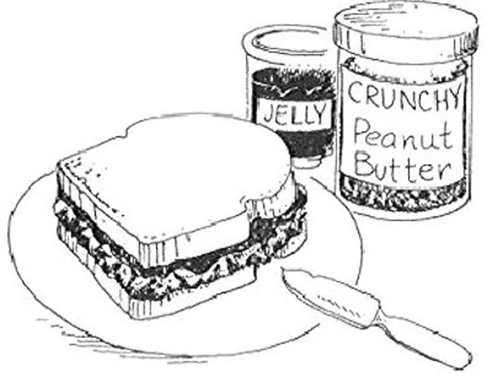 soup and sandwiches coloring pages - photo#35