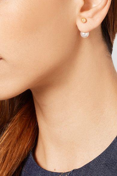 Sophie Bille Brahe Elipse 14-karat Gold Pearl Earring lK80moQOX