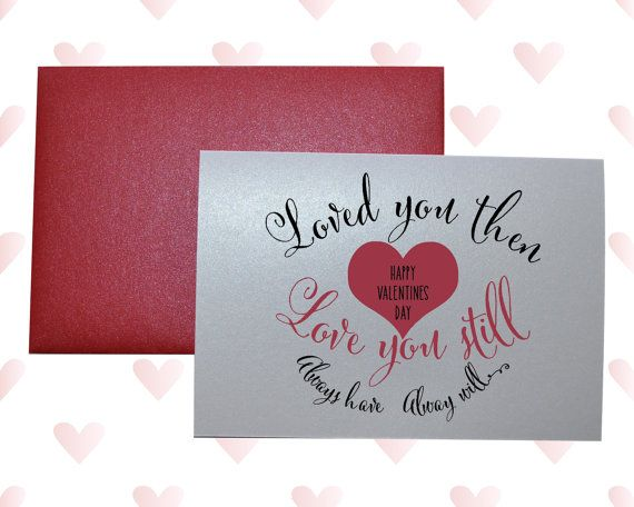 1st anniversary card him her love card cute quote heart
