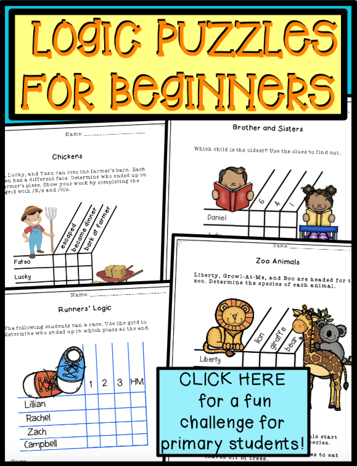 Logic Puzzles First Grade Printables And Google Docs Brain Teasers Critical Thinking Logic Puzzles [ 1508 x 1158 Pixel ]