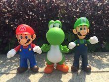 3pcs/lot Super Mario Bros Luigi Mario Action Figure PVC Super Mario Figure Model Doll 13cm Figure Toys For Children / Kid(China (Mainland))