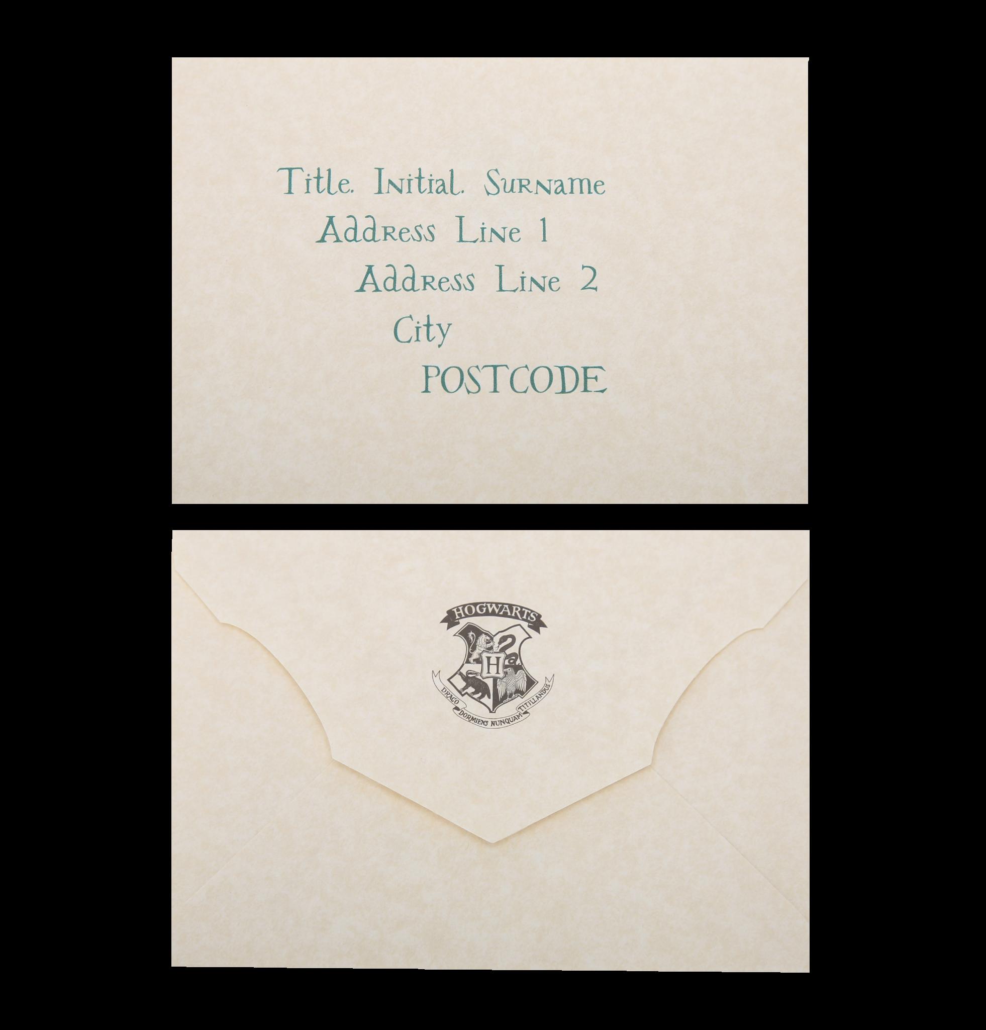 image relating to Hogwarts Acceptance Letter Envelope Template Printable named Individualized Hogwarts Recognition Letter Harry Potter Social gathering
