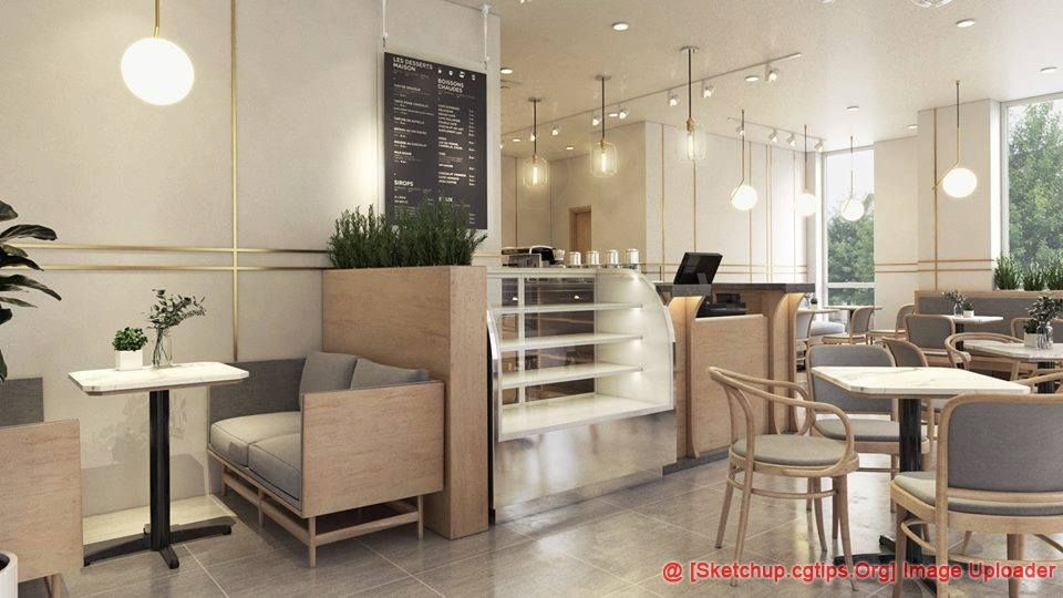 1482 Interior Restaurant Scene Sketchup Model Free Download