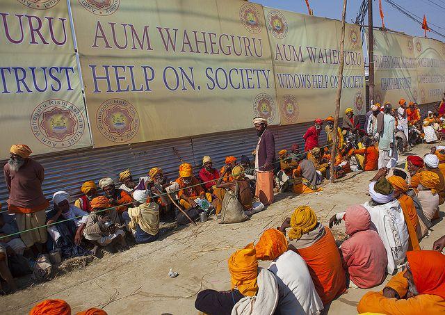 Food Distribution In An Ashram, Maha Kumbh Mela, Allahabad, India, via Flickr.