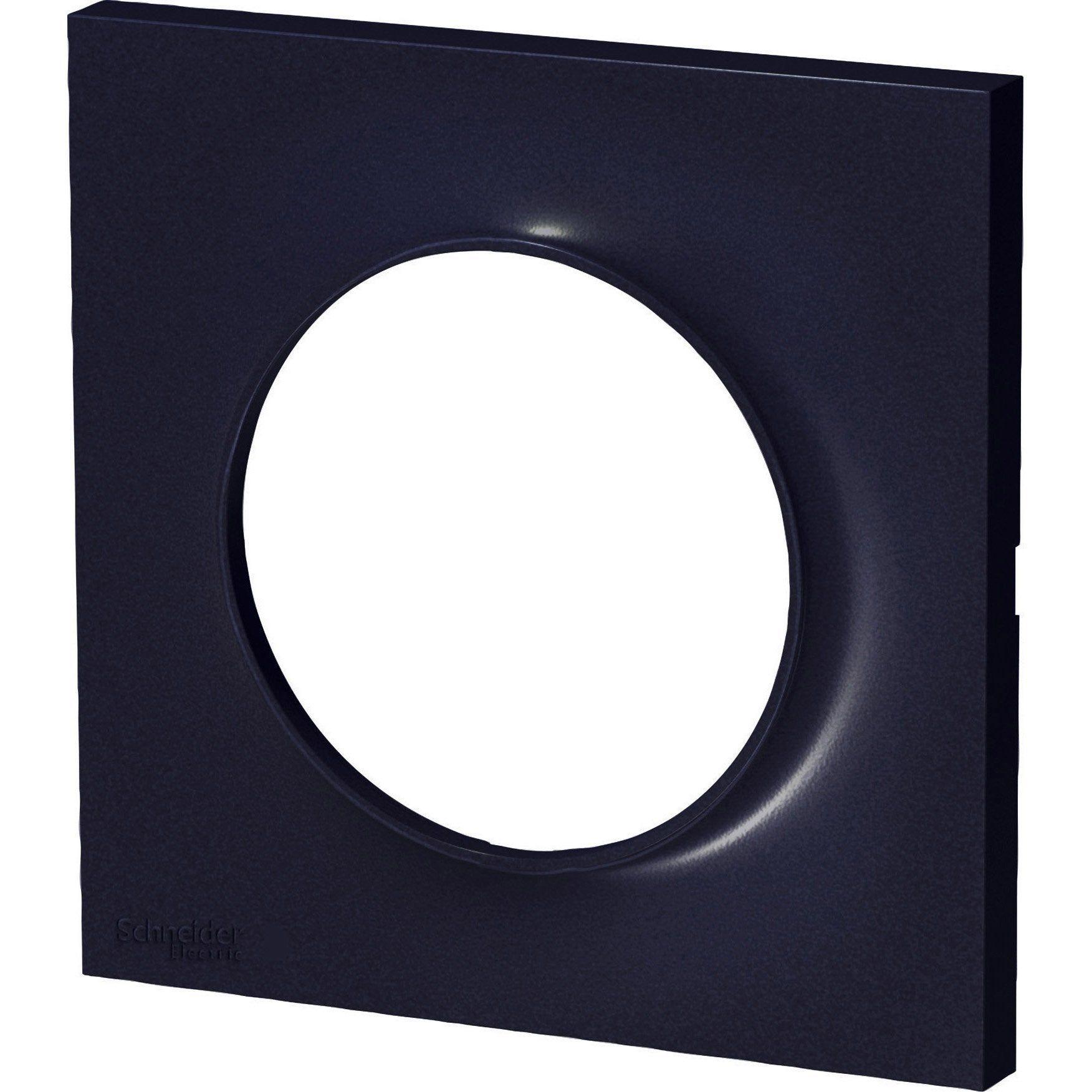 Plaque Simple Odace Schneider Electric Anthracite En 2020 Produits Plaque