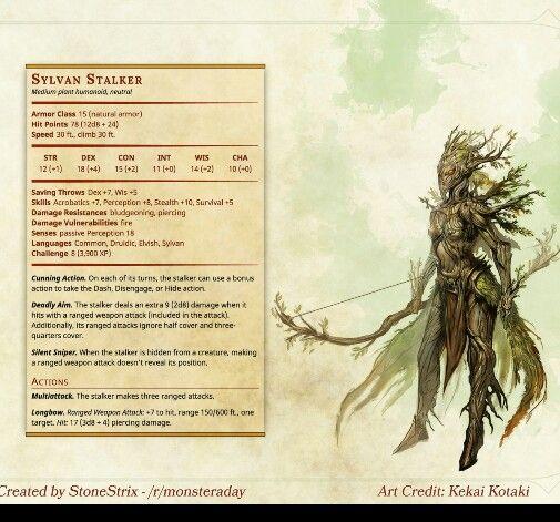 Sylvan Stalker Dungeons And Dragons Homebrew Dnd Druid D D Dungeons And Dragons