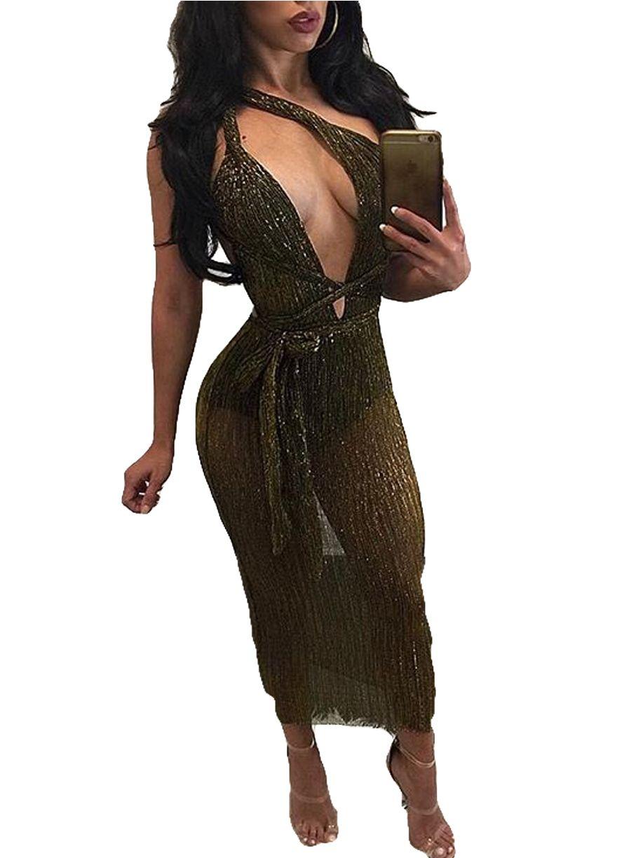 Gold Multi Way Bodycon Club Dressclub Dressclubwear Clothingsexy