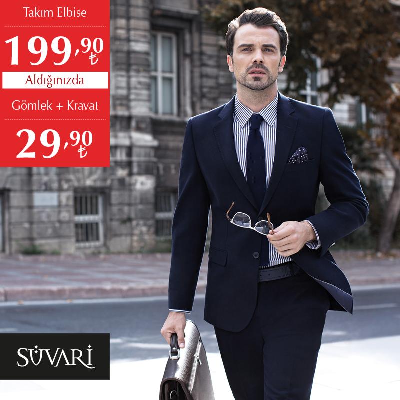 4d8aa19c91723 #MarmaraPark Süvari'de fırsatlar devam ediyor. Takım elbise 199.90 TL, Takım  Elbise Alana, Gömlek + Kravat 29,90 TL.