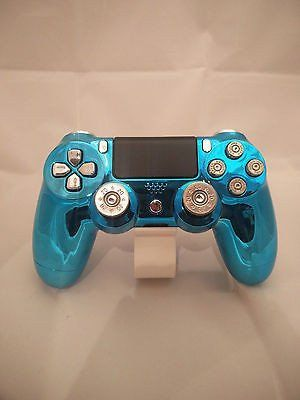 Official Ps4 Controller Customised Chrome Blue Shell w