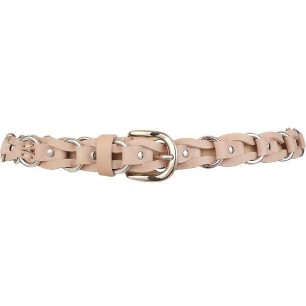 Isabel Marant Leather and Chain Link Deakin Belt (600 BRL) ❤ liked on Polyvore featuring accessories, belts, colorless, wide woven belt, woven leather belt, isabel marant belt, genuine leather belt and chain link belt
