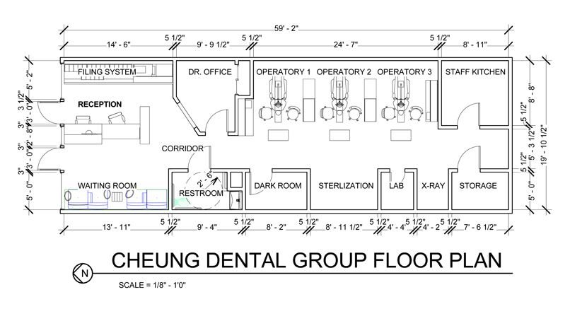 Dental office floor plan design dental office design for Office design drawing samples