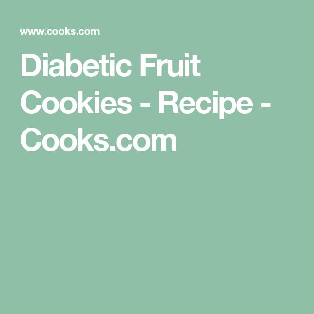 Diabetic Fruit Cookies - Recipe - Cooks.com