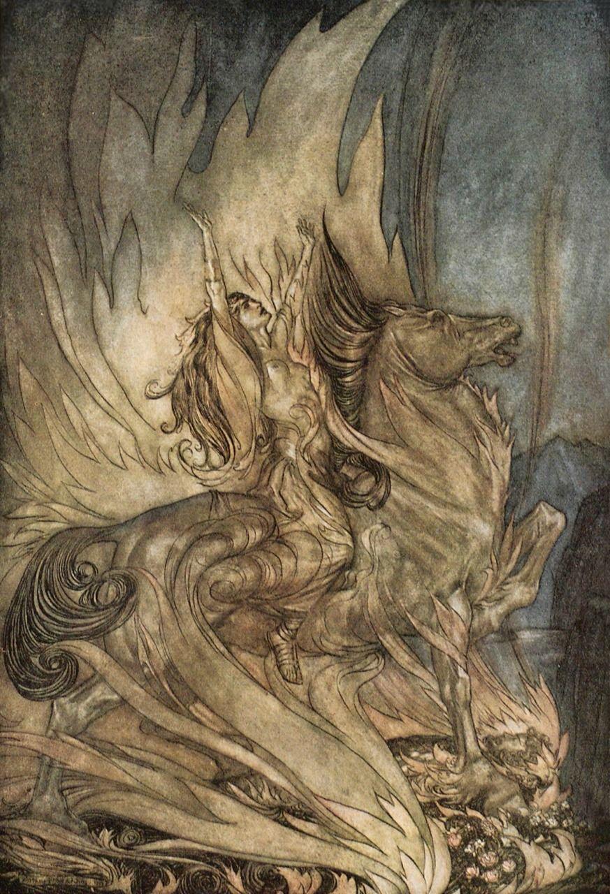 Siegfried Et Le Crepuscule Des Dieux De Richard Wagner Illustre Par Arthur Rackham Hachette Cie 1910 Arthur Rackham Art Traditionnel Art