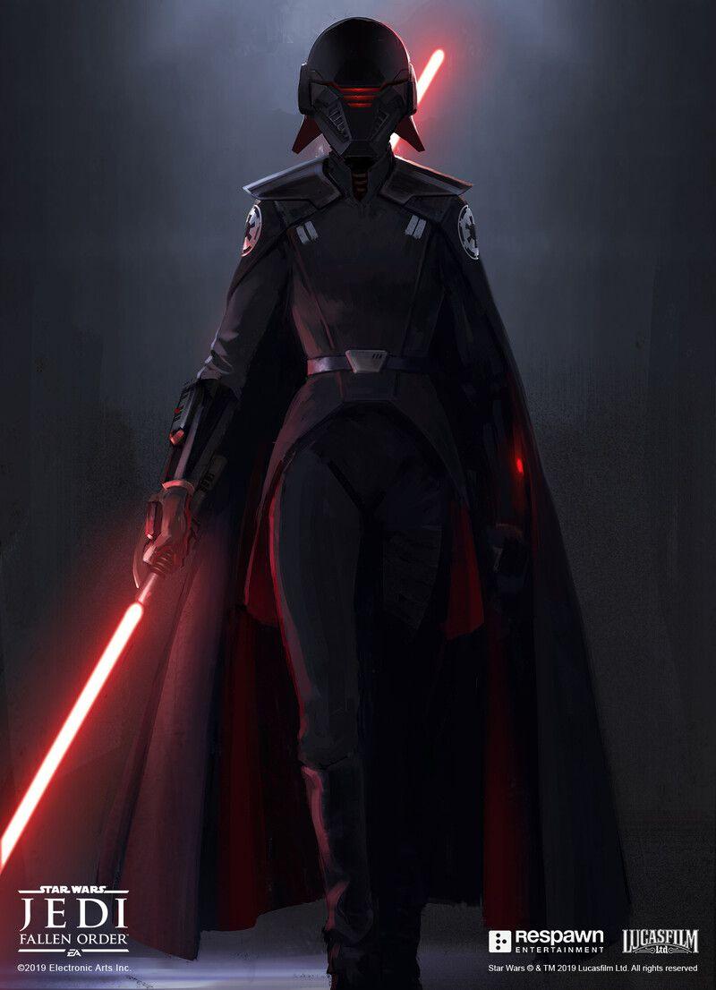 Artstation Jedi Fallen Order Inquisitor Second Sister Jordan Lamarre Wan Star Wars Villains Star Wars Characters Pictures Star Wars Jedi