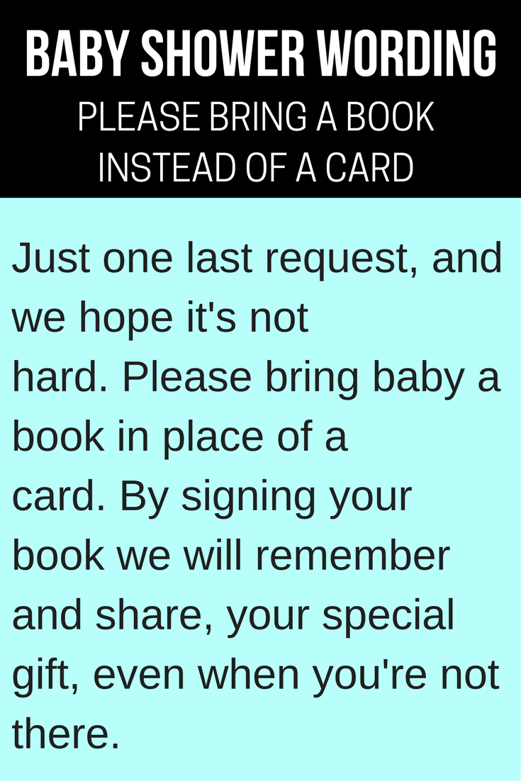 Bring Book Instead Of Card Saying : bring, instead, saying,