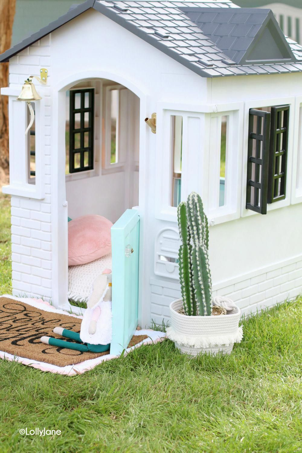 How To Paint a Plastic Playhouse Lolly Jane (With images