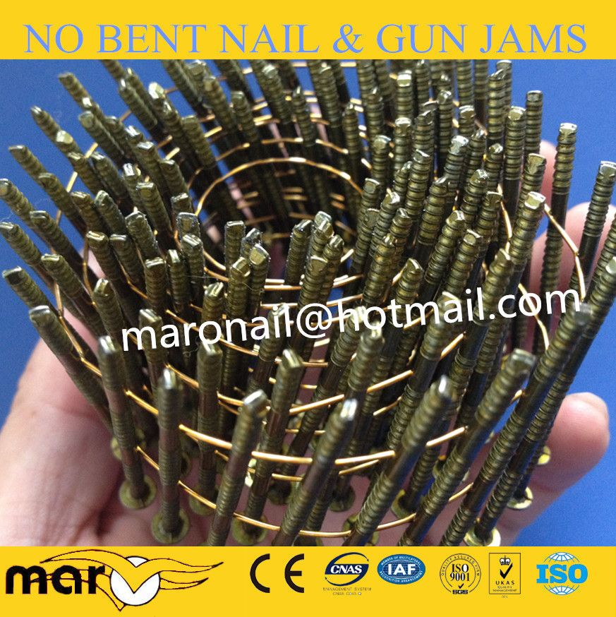 Screw Shank Wire Coil Nails Fence Nails Roofing Nails Coil