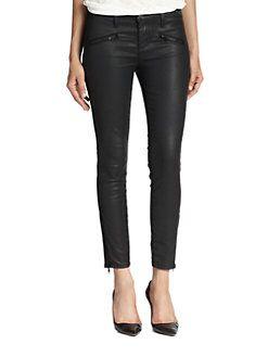 Current/Elliott - The Coated Soho Zip Stiletto Skinny Jeans