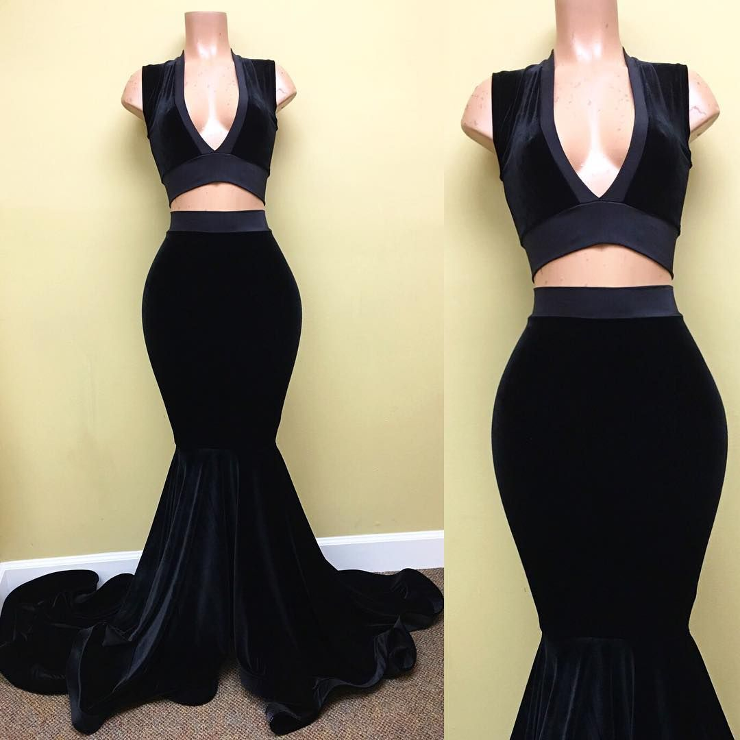 Velvet two pieces prom dress from hellodress evening u prom