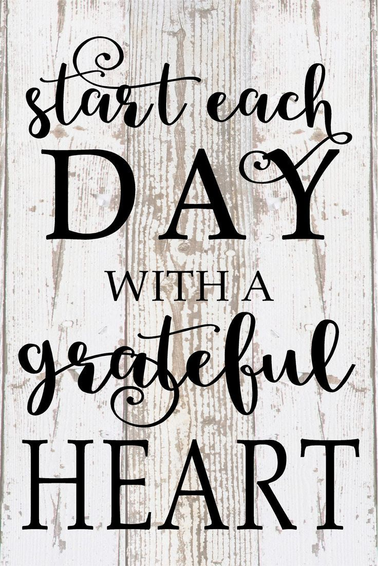 Start each day with a grateful heart inspirational wood sign canvas