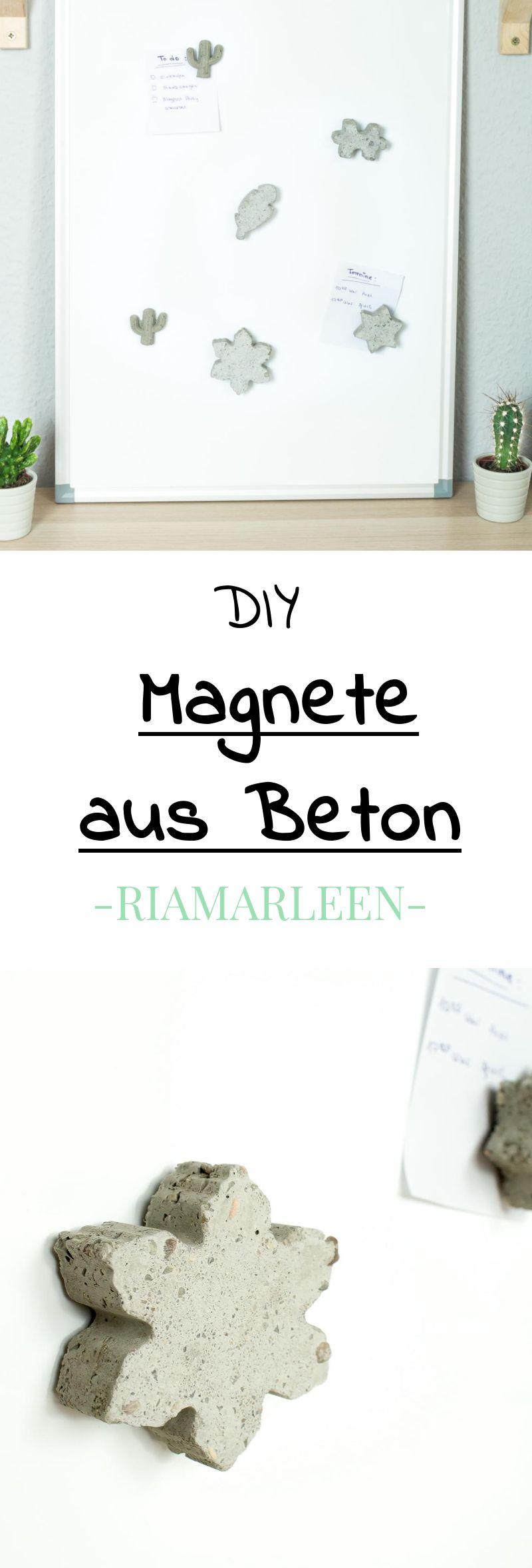 diy idee individuelle magnete aus beton basteln schmuck diy diy magnets und how to make. Black Bedroom Furniture Sets. Home Design Ideas