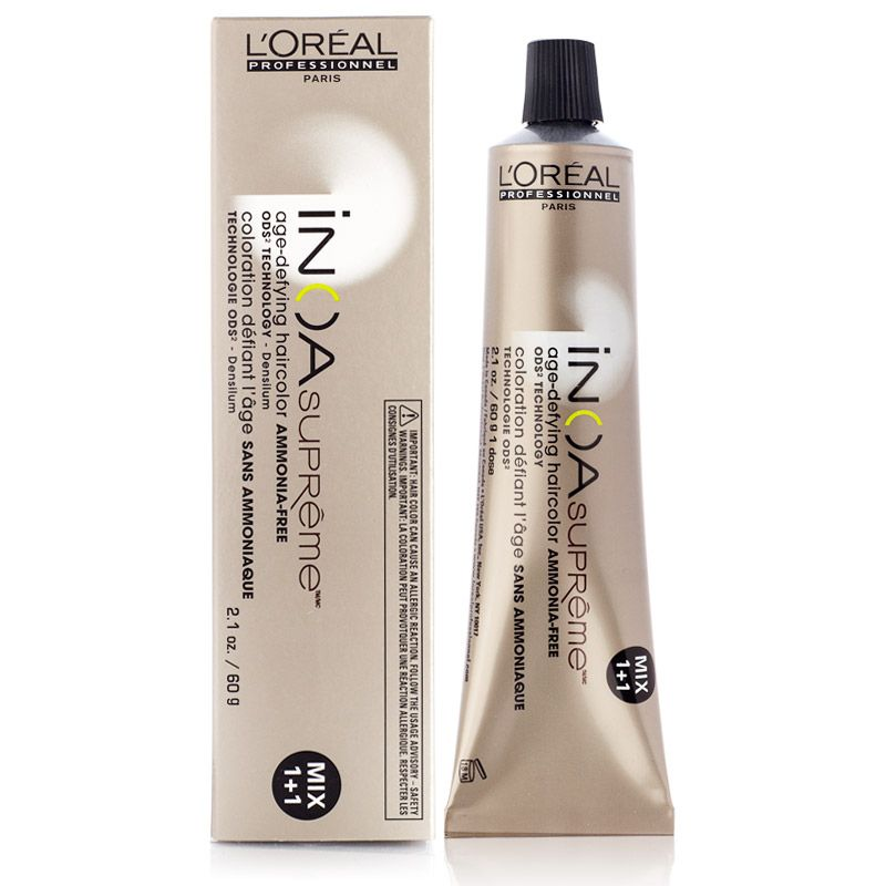 L 39 oreal inoa supreme age defying ammonia free hair color 8gv hair shtuff pinterest - Loreal salon colour chart ...
