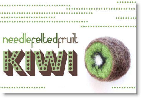 Needle felted cute kiwi fruit tutorial · Felting | CraftGossip.com
