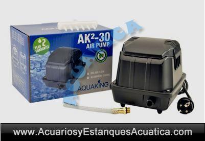Aquaking ak2 series bombas de aire estanques acuarios for Accesorios para estanques