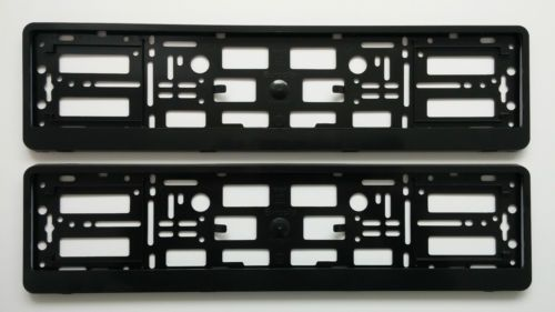 NEW SILVER BMW Number Plate Surrounds Holder Frame. · Easy number plate removal (no tools needed). · Built in springs reduce plate vibrations and noise.  sc 1 st  Pinterest & 2x BLACK NUMBER PLATE SURROUNDS HOLDER FRAME FOR ALL CARS 4 x 4 ...