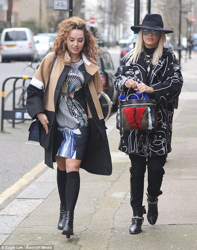 Rita Ora & her sister Elena in London