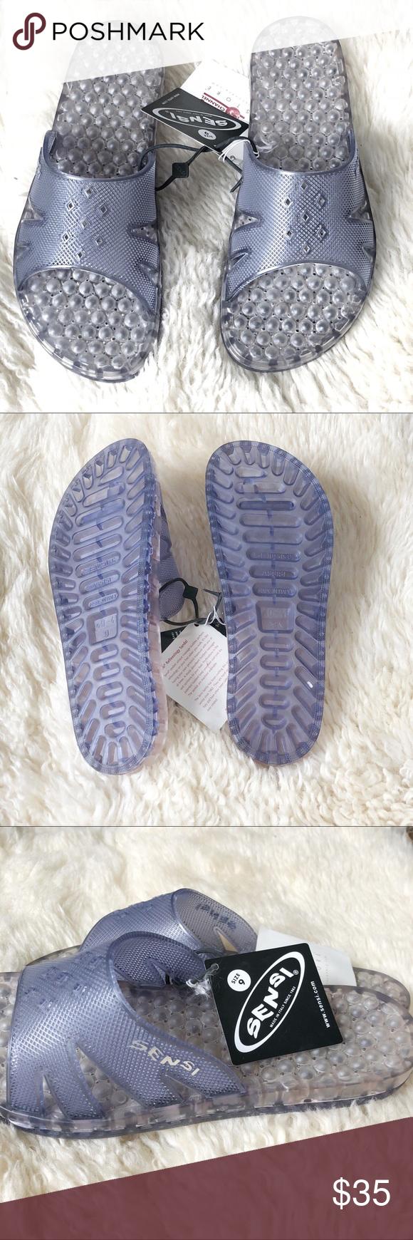 6dc6c612f14adb NEW Sensi Reflexology Spa Slides Sandals Size 9 Sensi Reflexology ...
