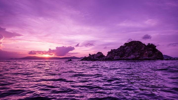 Purple Ocean Aesthetic Google Search Landscape Wallpaper Desktop Wallpaper Island Wallpaper