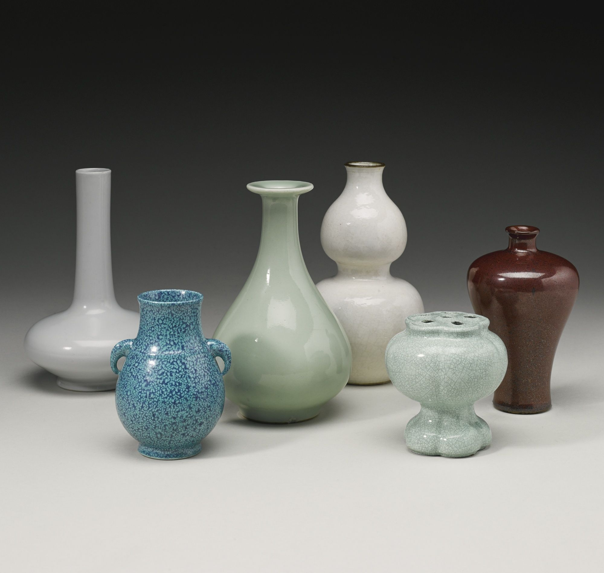 Image result for A GROUP OF SIX MONOCHROME VASES QING DYNASTY, 17TH - 19TH CENTURY