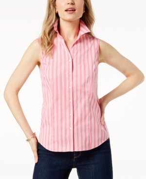 a794c495b847c Charter Club Petite Striped Sleeveless Shirt