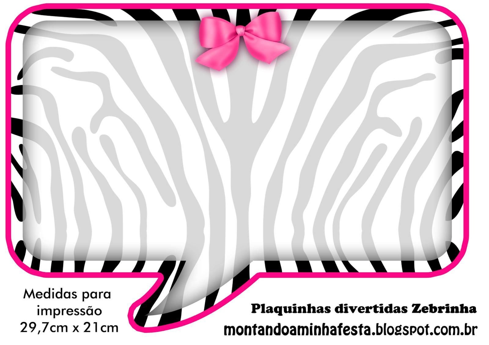 placas+divertidas+zebra+rosa.png (1600×1130) | Imprimible | Pinterest