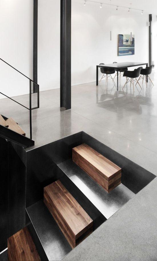 Sillas eames con apoyabrazos escaleras escaleras y for Silla escalera de madera