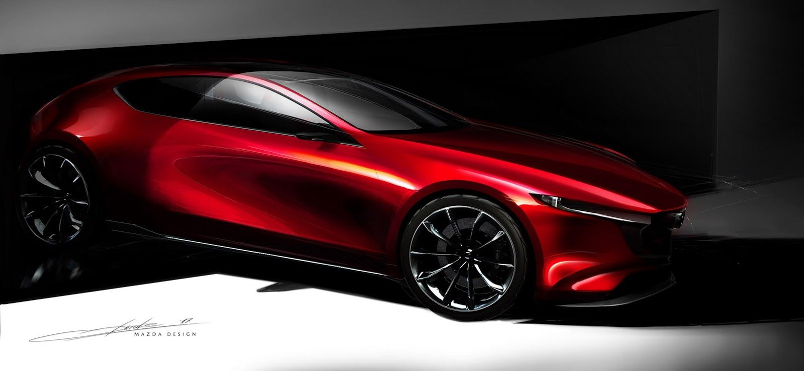 Mazda Kai Concept Teases Next Mazda3 But Don T Get Your Hopes Too High Carscoops In 2020 Car Design Mazda Concept Car Design
