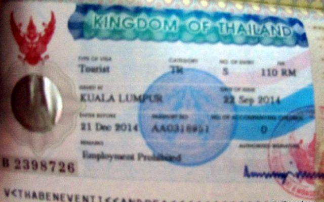 Il visto della Thailandia a Kuala Lumpur