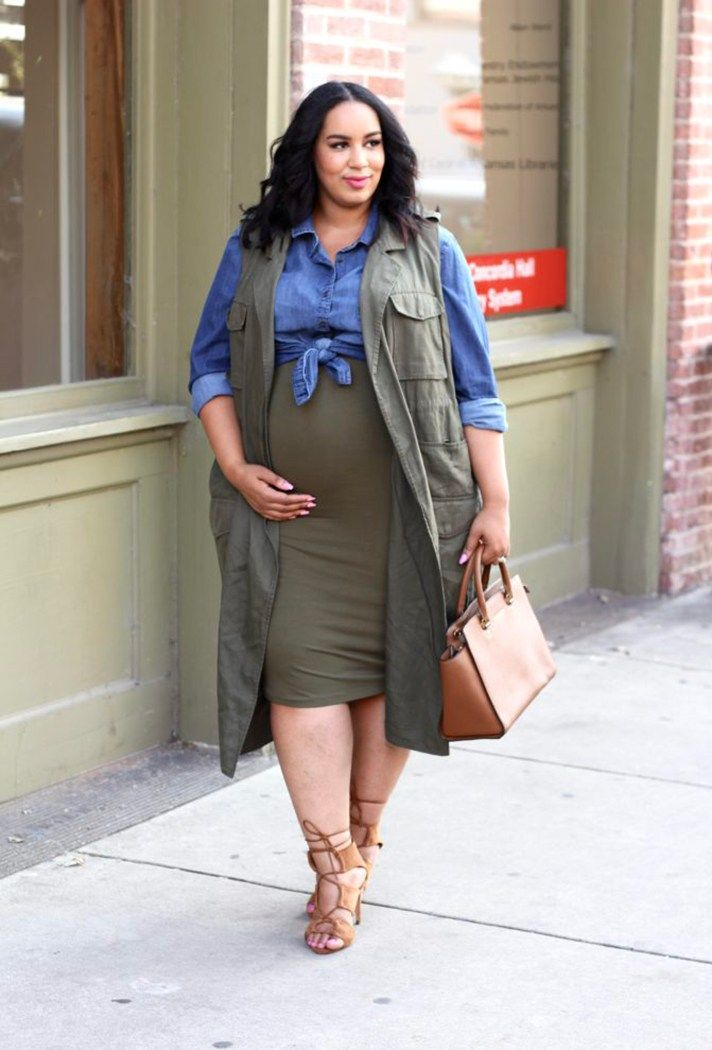 67472c3a5968c Pregnant Street Style: 35 stylish maternity outfit ideas that prove you can  still look chic