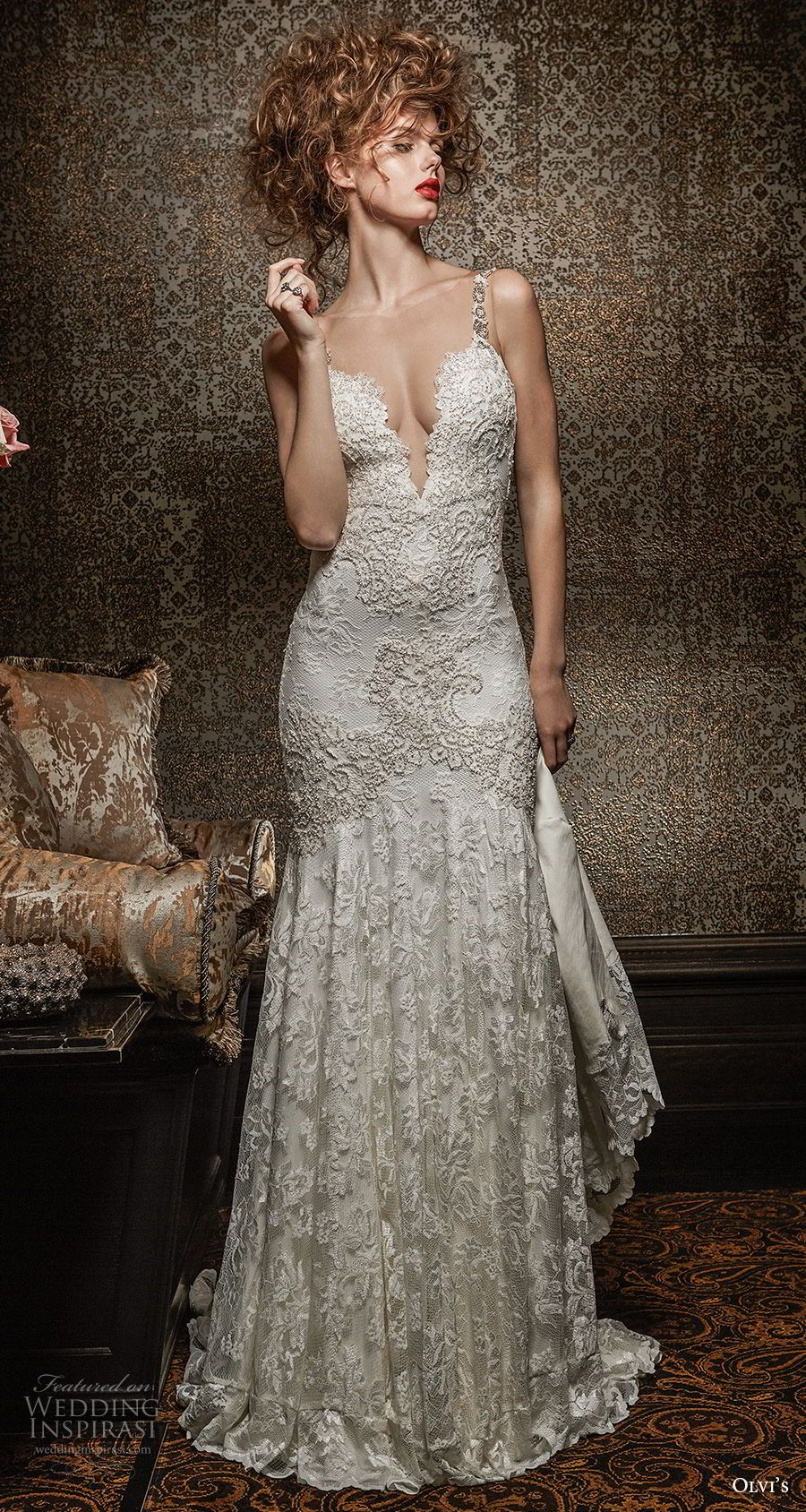 Drop waist a line wedding dress  Olvius  Wedding Dresses u ucRoyal Romanceud Bridal Collections in