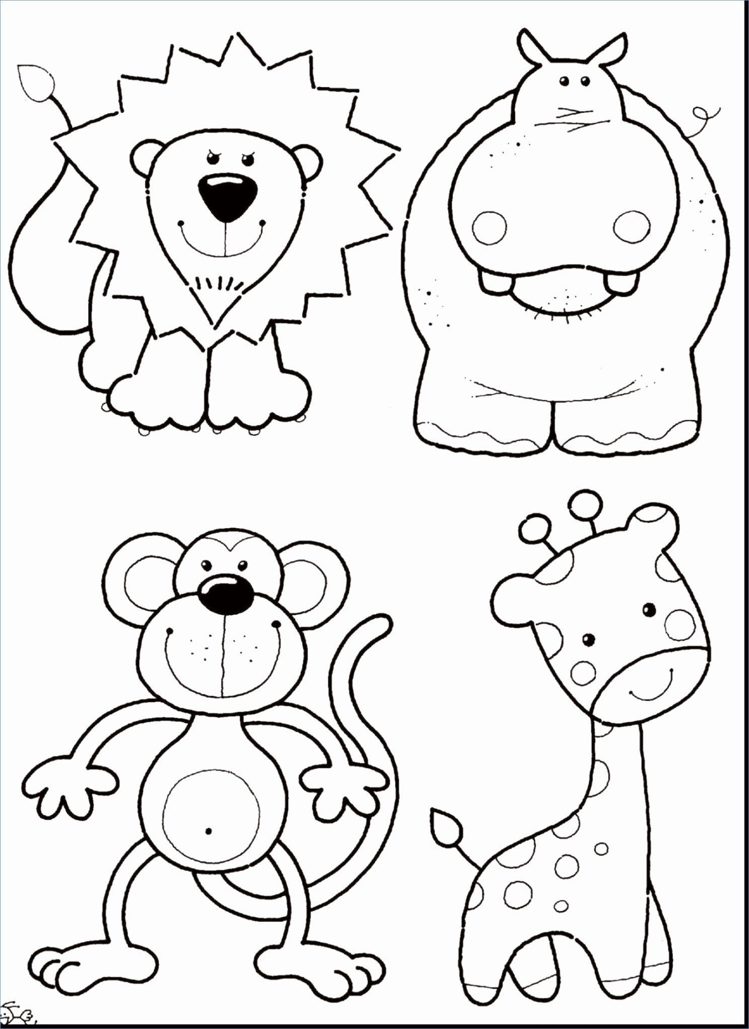 - Coloring Pictures Zoo Animals Zoo Animal Coloring Pages, Animal