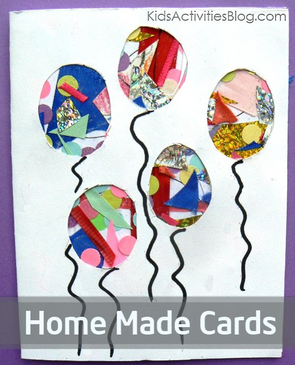 Birthday Card Ideas For Children To Make Part - 24: Homemade Cards Using Kidsu0027 Collages