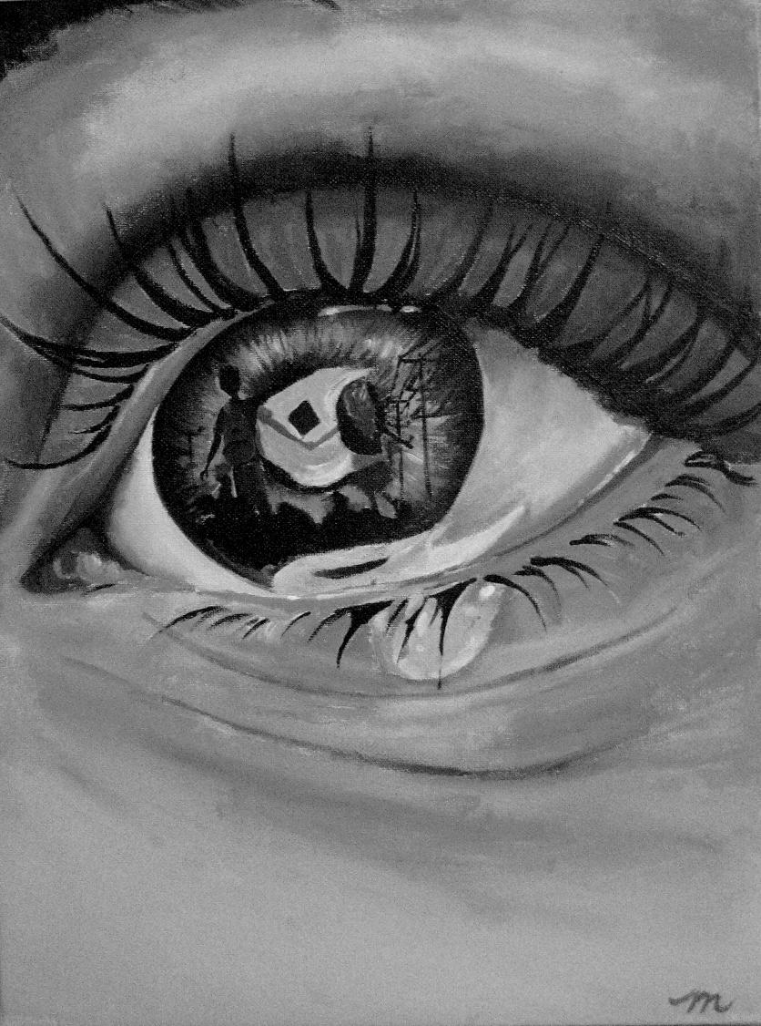 Heartbroken Cry Eye Draw : heartbroken, Crafts
